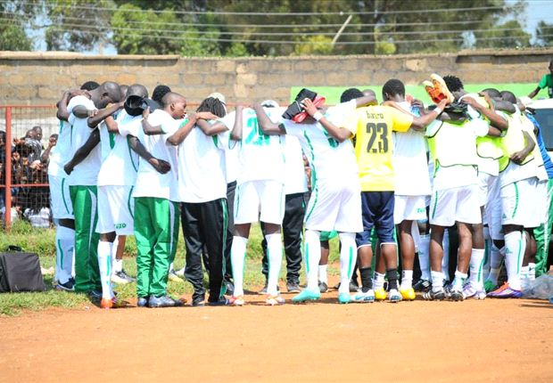 Gor Mahia squad in Awendo before playing Sony Sugar