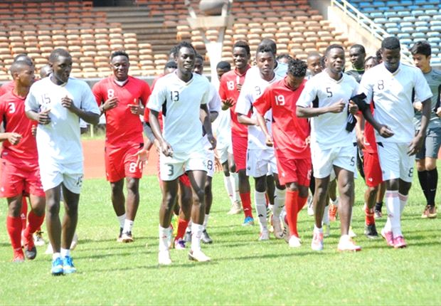 Harambee Stars players' training on Thursday ahead of clash with Namibia