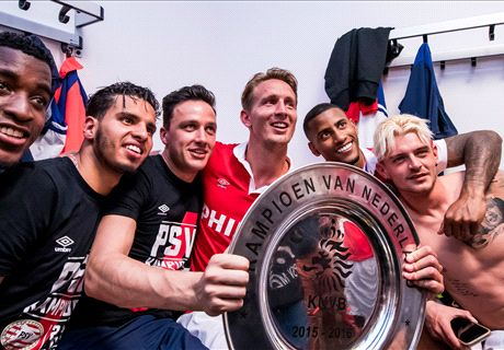 WATCH: PSV celebrate Eredivisie title