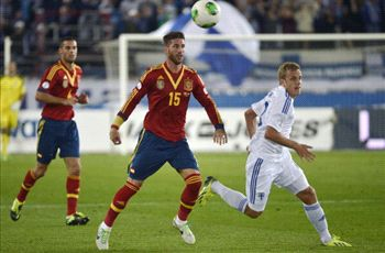 Finland 0-2 Spain: Alba and Negredo put la Roja's foot in Brazil