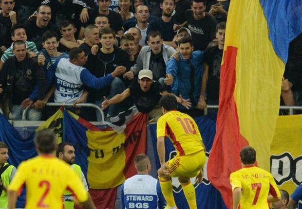 Rumänien freut sich - Der 3:0-Sieg gegen Ungarn wurde allerdings von Ausschreitungen überschattet