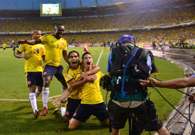 Colombia derrotó a Ecuador por 1 a 0 con un gol de James Rodríguez.
