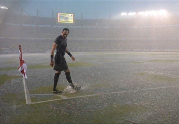 Así lucía el estadio Metropolitano de Barranquilla a la hora que debía haber comenzado