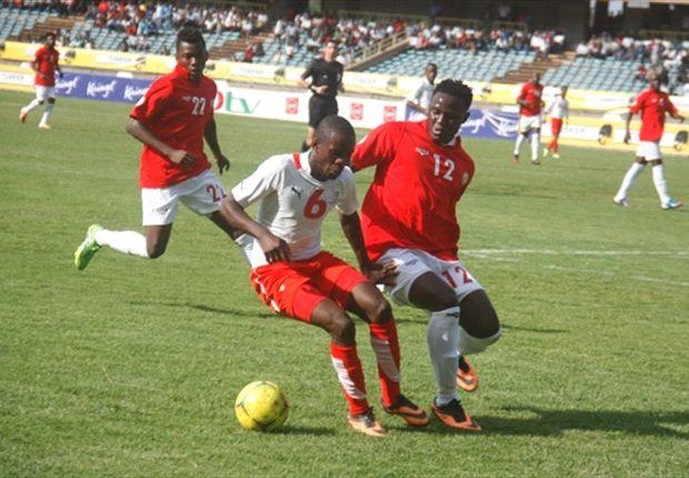Kenya skipper Victor Wanyama attempts to stop Namibia's Horaeb Lam.J
