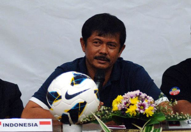 Pelatih timnas U-19 Indra Sjafri menyambut gembira kemenangan atas Korea Selatan