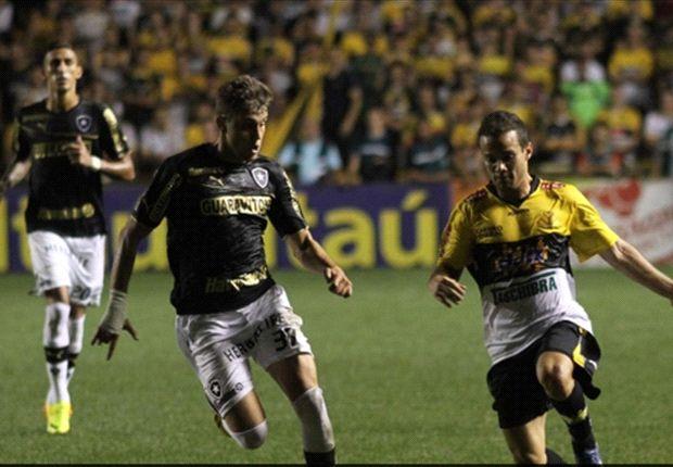 Criciúma 1 x 2 Botafogo: Virada na raça