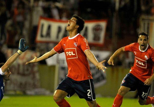 Sobre el final. Cáceres le dio el triundo a Independiente.