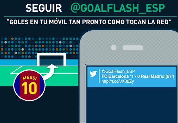 ¡Nuevo! Sigue @GoalFlash_ESP – los goles de la Liga BBVA ¡en tu móvil!