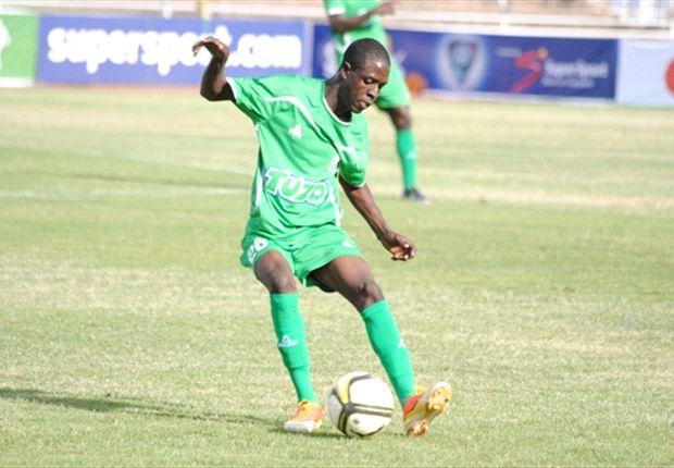 Gor Mahia winger Angelo Okumu in action