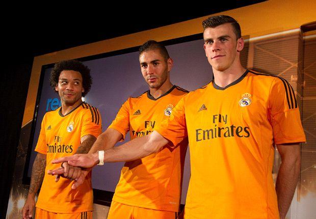 Marcelo, Benzema y Bale, hace dos meses, en el acto de presentación de las equipaciones