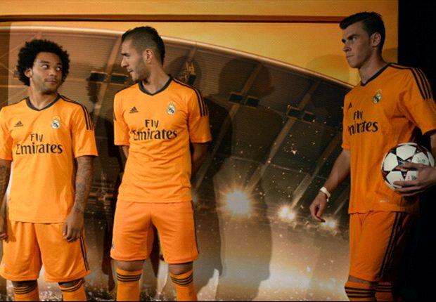 Bale, Marcelo y Benzema, en la presentación de la segunda equipación de esta temporada