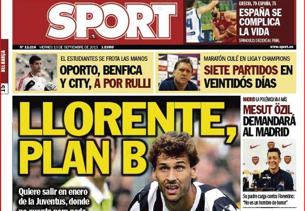 In Spagna il 'caso Llorente' è in prima pagina a 9 colonne...