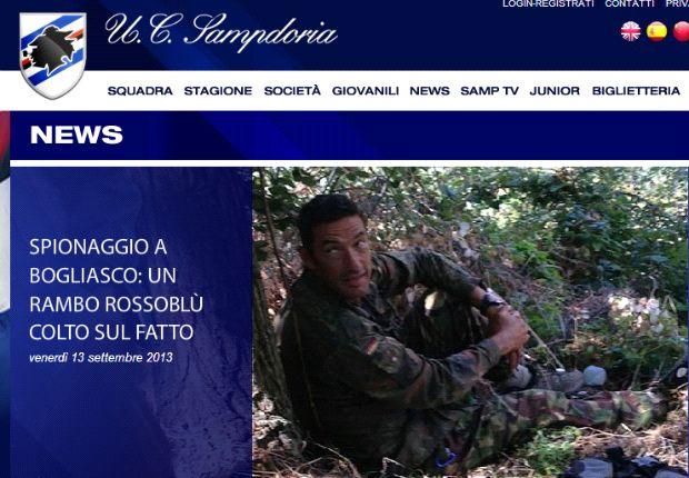 Ausspioniert! Ein Jugendtrainer vom CFC spionierte ein Geheim-Training von Sampdoria aus