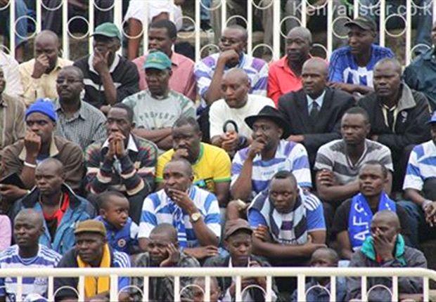 AFC Leopards fans look dejected in a past league match