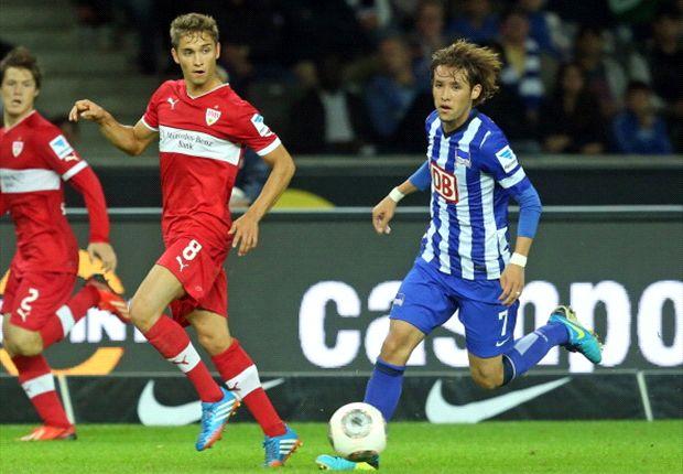 Kampf um den Ball - am Ende siegte der VfB knapp mit 1:0