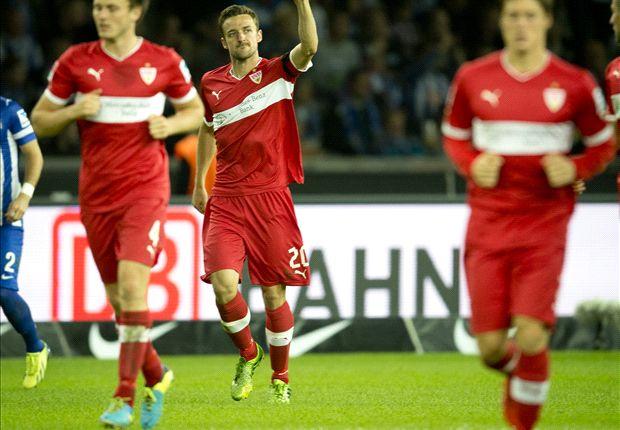 Hertha Berlin 0-1 Stuttgart: Gentner header sees Schneider's revival continue
