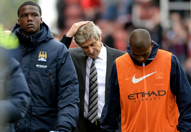 Manchester City boss Pellegrini happy with battling point at Stoke