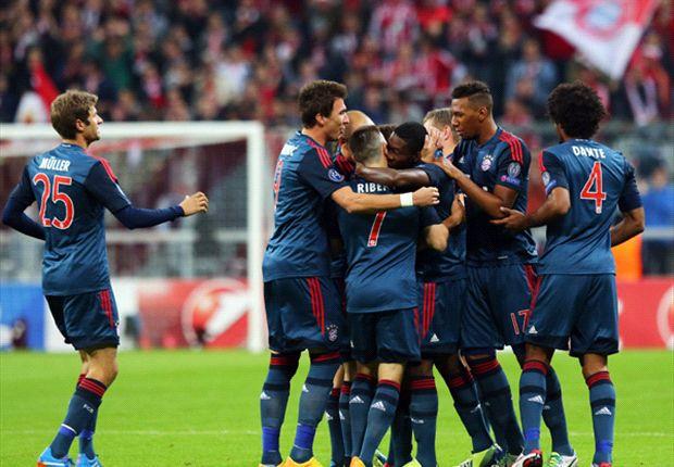 Die Bayern hatten viel Grund zum Jubeln gegen Moskau