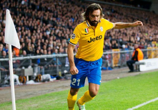 Pirlo llegó a Juventus en 2011 y ganó cuatro títulos.