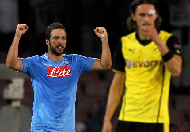 Napoli 2-1 Borussia Dortmund: BVB see red in Naples defeat