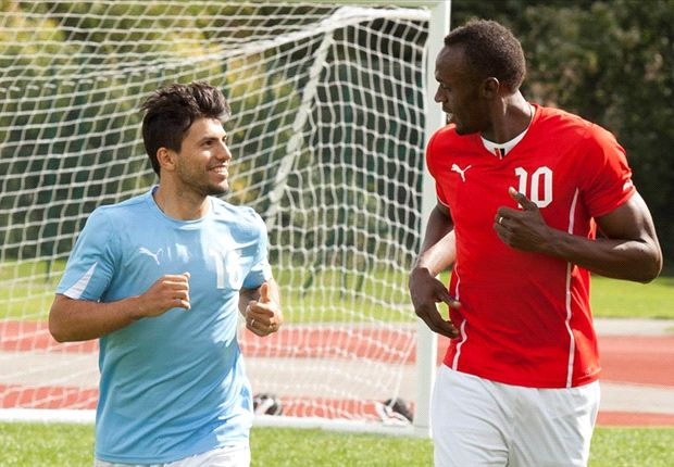 Watch Usain Bolt take on Sergio Aguero for speed