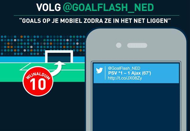 Volg @GoalFlash voor alle Goal-alerts op je mobiel