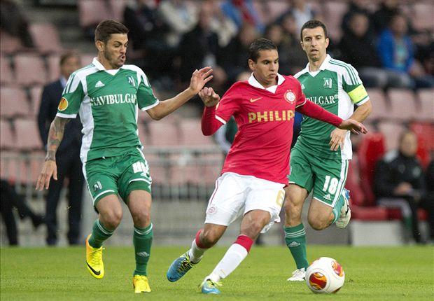PSV Eindhoven menuai kekalahan 2-0 dari juara Bulgaria FK Ludogorets di Liga Europa tengah pekan.