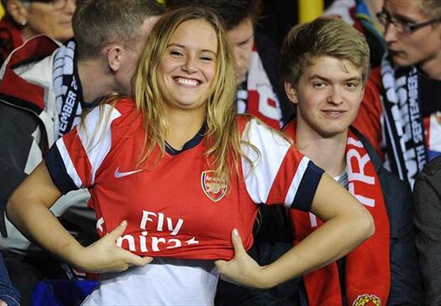 Extra Time: Norwegian Arsenal fan earns her spurs with White Hart Lane shirt stunt