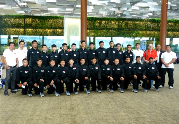 Singapore U15 Squad departing for the AFC U16 Championship (Photo:FAS)