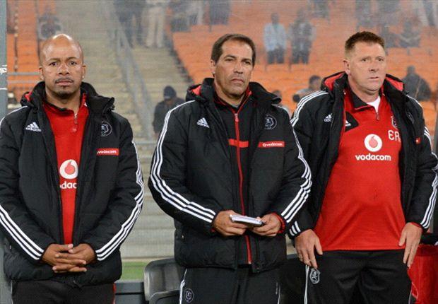 Tebogo Moloi, Roger de Sa and Eric Tinkler