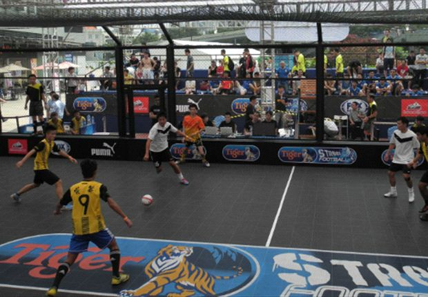 This team in action was sporting a Malaysia-like jersey.