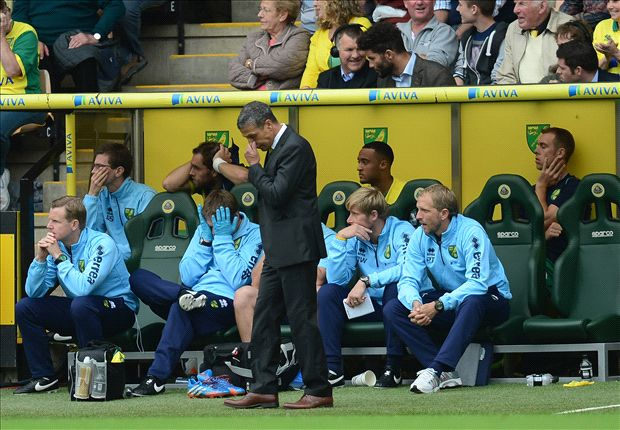 Hughton frustrated by goal-shy Norwich