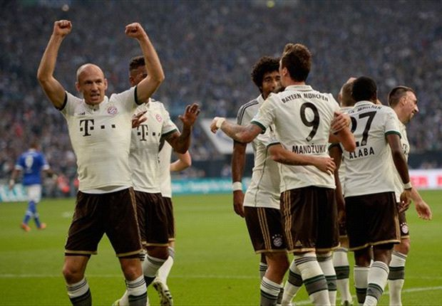 Schalke 0-4 Bayern Munich: Bavarians move level with Dortmund