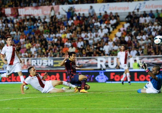 Rayo Vallecano 0-4 Barcelona: Pedro hat trick seals Blaugrana win