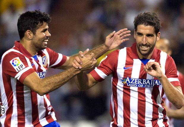 Diego Costa y Raúl García, goleadores en el último encuentro de Champions