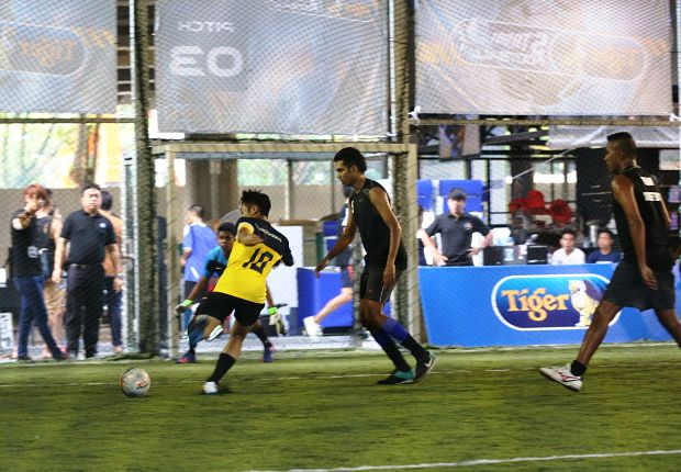Futsal teams duking it out at the qualifiers