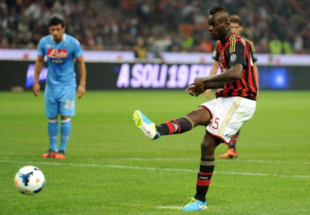Balotelli misses first penalty of his career