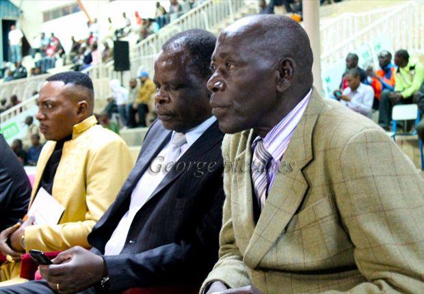 Sofapaka President Elly Kalekwa with coach Sam Timbe - Photo George Omondi.