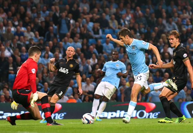 Manchester City 5-0 Wigan: Jovetic doubles up for comfortable hosts