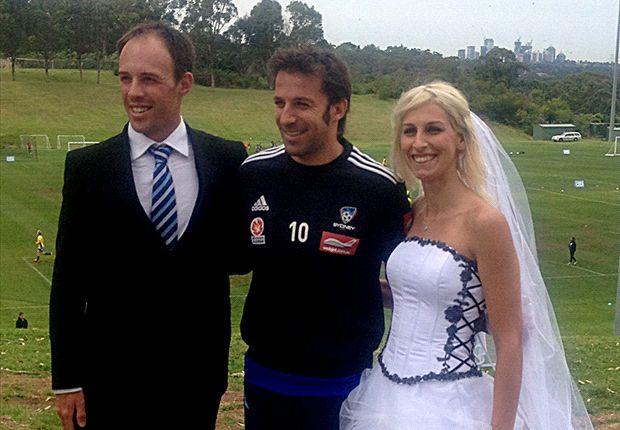 Del Piero delivers wedding day gift