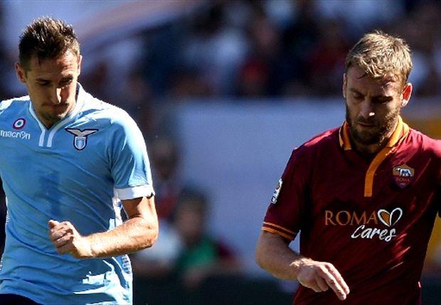 Miroslav Klose gegen Daniele De Rossi und den AS Rom