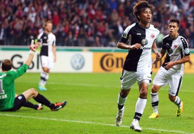 Takashi Inui traf für Eintracht Frankfurt im DFB-Pokal