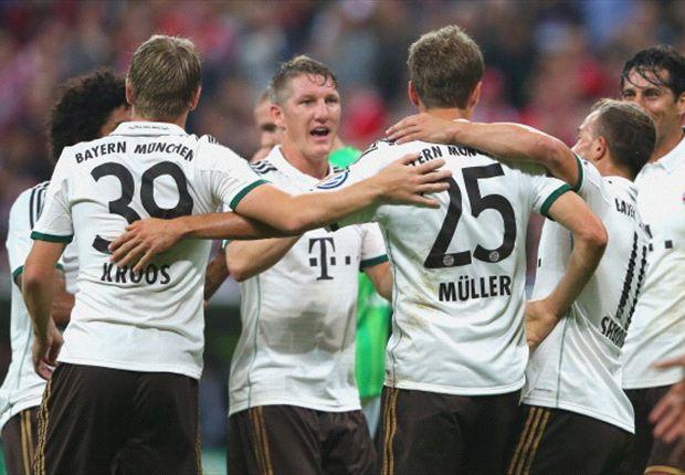 Die Bayern durften viermal gegen Hannover jubeln