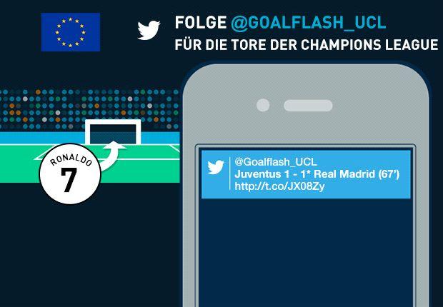 Mit @GoalFlash_UCL seid Ihr in der Königsklasse immer auf dem neuesten Stand