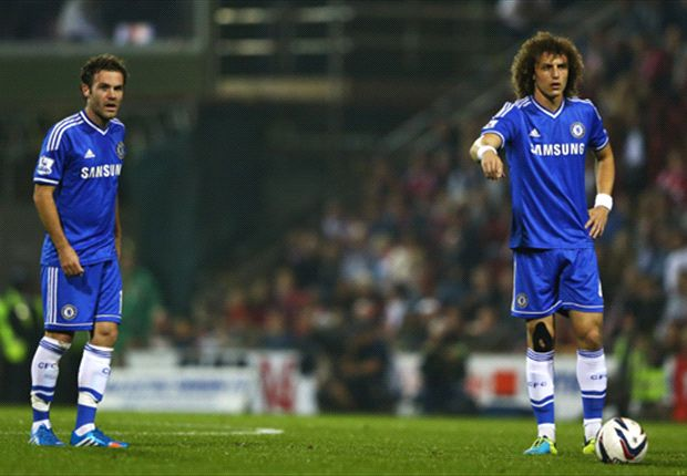 TEAM NEWS: Luiz keeps Chelsea place for Tottenham clash as Mata drops to bench