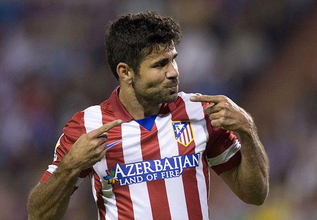 Atletico-Goalgetter Diego Costa durfte gegen Real erneut jubeln