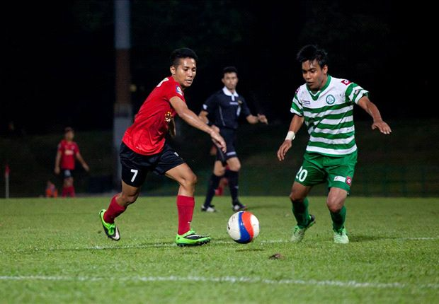 Sahil Suhaimi (left) has impressed this season with his performances for the Young Lions