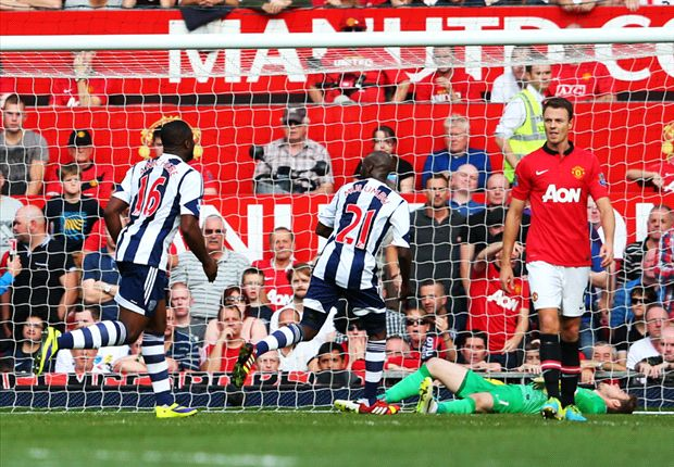 Manchester United 1-2 West Brom: Baggies stun champions to pile pressure on Moyes