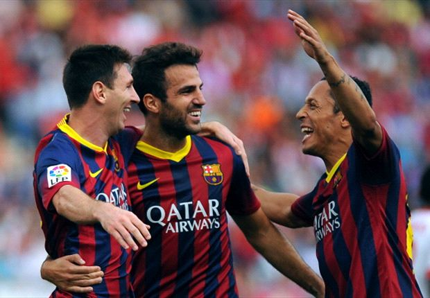 Almeria 0-2 Barcelona: Seven out of seven for Blaugrana