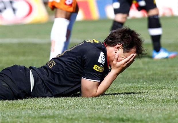 Canales no pudo salvar a Colo Colo con su gol.